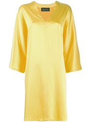 Gianluca Capannolo 3 4 Sleeve Dress Yellow