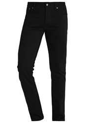 Nudie Jeans Dude Dan Straight Leg Dry Black Twill Black Denim