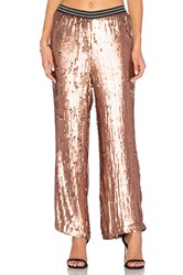 Free People So Sexy Sequin Just A Dream Pant Metallic Bronze