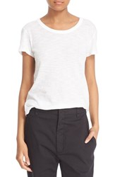 Vince Women's Fitted Slub Cotton Tee Optic White