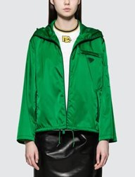 Prada Nylon Hooded Shell Jacket