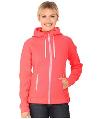 Spyder Ardent Full Zip Hoodie Mid Weight Core Sweater Bryte Pink White Women's Sweatshirt