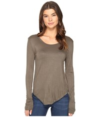 Culture Phit Fifine Round Neck Long Sleeve Top Olive Women's Clothing