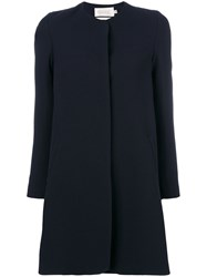 Goat Redgrave Coat Polyester Acetate Wool Blue