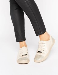 Lipsy Embellished Trainers Nude Pink