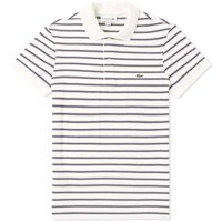 Lacoste Stripe Polo Blue