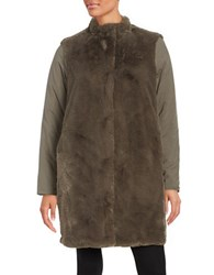 Elie Tahari Berit Reversible Faux Fur Accented Jacket Horizon