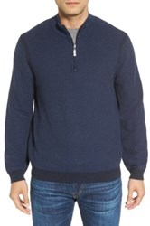 Tommy Bahama 'Make Mine A Double' Reversible Quarter Zip Sweater Blue