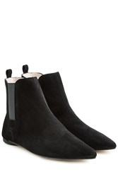 Repetto Clark Suede Ankle Boots Black