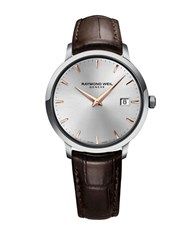 Raymond Weil Tocatta Collection Stainless Steel And Leather Watch Brown