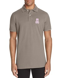 Psycho Bunny Alto Regular Fit Pique Polo Shirt Grey