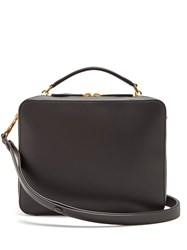 Anya Hindmarch Stack Double Leather Satchel Bag Black