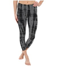 Hard Tail Flat Waist Capri Leggings All Over Lizard 1 Women's Workout Black
