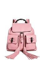 Wgaca What Goes Around Comes Around Gucci Pink Leather Bamboo Handle Backpack
