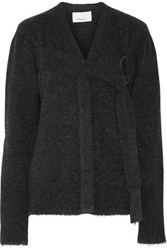 3.1 Phillip Lim D Ring Embellished Knitted Cardigan Charcoal