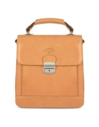 Robe Di Firenze Sand Vegetable Tanned Leather Vertical Briefcase