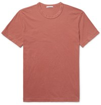 James Perse Combed Cotton Jersey T Shirt Brick