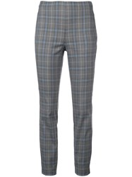 Rag And Bone Check Pattern Trousers Grey