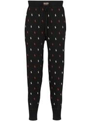 Polo Ralph Lauren Printed Pyjama Sweatpants Black