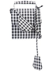 Marques Almeida Marques'almeida Checked Crossbody Bag Black