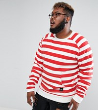 Sixth June Sweatshirt In White With Red Stripes Exclusive To Asos