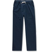 Albam Tapered Cotton Ripstop Drawstring Trousers Navy
