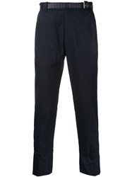 Wooyoungmi Cropped Tailored Trousers Blue