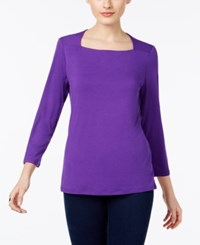 Inc International Concepts Square Neck Top Only At Macy's Vivid Purple