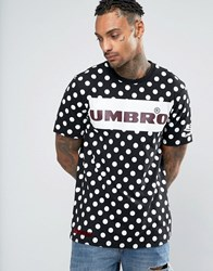House Of Holland X Umbro T Shirt With All Over Polka Dots Black