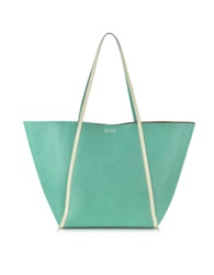 Linda Farrow Pale Yellow Ayers And Green Calf Leather Tote