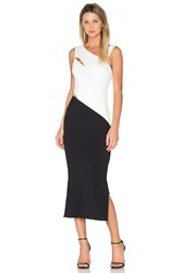 Finders Keepers Latrobe Midi Dress Black And White