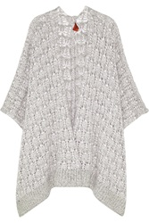 Missoni Open Knit Cashmere Cardigan Gray