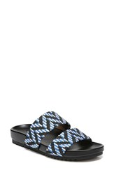 Naturalizer Amabella Slide Sandal Blue Multi Fabric