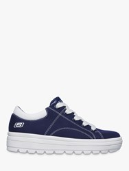 Skechers Street Cleats 2 Contrast Stitch Trainers Navy