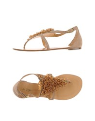 Lola Cruz Footwear Thong Sandals Women Camel