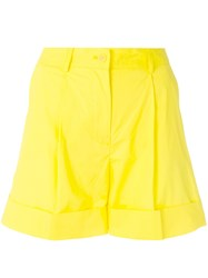 P.A.R.O.S.H. Buttoned Shorts Yellow And Orange