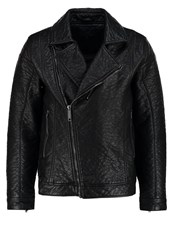 Blend Of America Faux Leather Jacket Black Anthracite