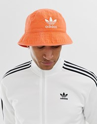 Adidas Originals Bucket Hat In Orange Red