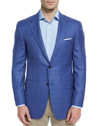 Canali Sienna Contemporary Fit Textured Sport Coat Light Blue No Color