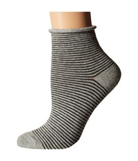Richer Poorer Hari Ankle Heather Grey Women's Crew Cut Socks Shoes Gray
