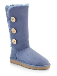Ugg Bailey Button Knee High Shearling Boots Blue