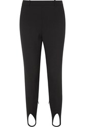 Givenchy High Rise Wool Tapered Stirrup Pants Black