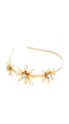 Dauphines Of New York The Leading Lady Headband Gold Clear