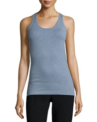 Minnie Rose Scoop Neck Jersey Essential Tank Chambray