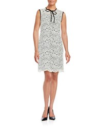 424 Fifth Lace Overlay Shift Dress White