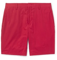 Paul Smith Slim Fit Cotton Shorts Red