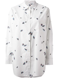 Equipment Bee Print Shirt White