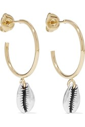 Isabel Marant Amer Gold And Silver Tone Hoop Earrings One Size