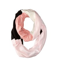 Kate Spade Large Color Block Infinity Scarf Pastry Pink Scarves Multi