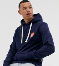Friend Or Faux Tall Neocity Back Print Hoodie Navy